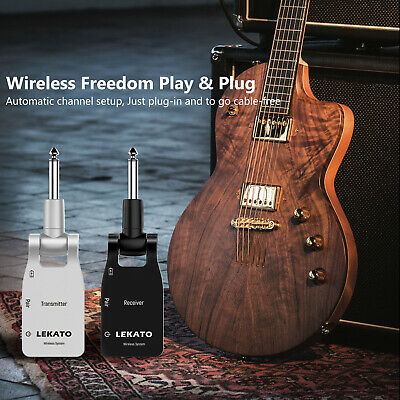 Guitar Wireless System Transmitter + Receiver 2.4GHz 280 Degree Lekato WS-10