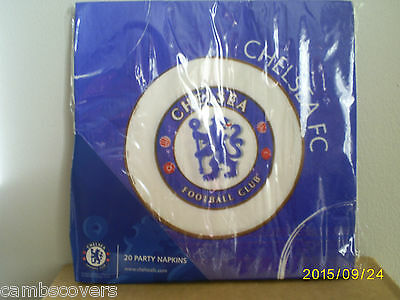 Chelsea Football Club Party Paper Napkins x 20..Official Merchandise