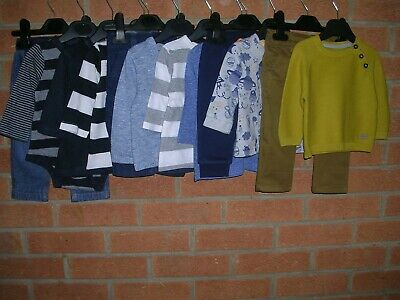 NEXT MARKS & SPENCER GAP etc Boys Bundle Jeans Tops Cardigan Outfits Age 3-6m