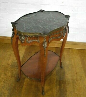 Antique French style ormalu side table - console table - hall table