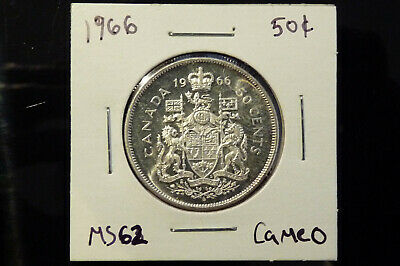 1966 Canada silver fifty 50 cents - MS62 cameo