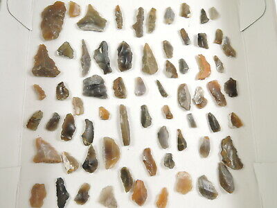 67 NEOLITHIC Flint MICROLITH and ARROWHEAD Essex England