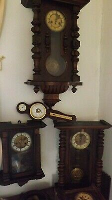 Antique Vienna Wall Clock x5 & 2barometers.....