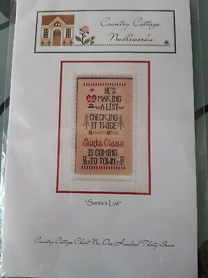 "Country Cottage Needleworks ""Santa's List"" Cross Stitch Chart"