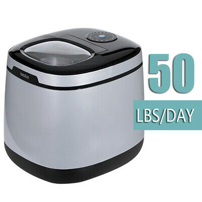 Portable Ice Maker large capacity 50 lbs, make ice in 6 mins, countertop type