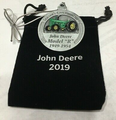 2019 John Deere Pewter Christmas Ornament - 24th in these series