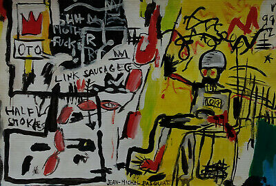 Perfect Neo Expressionist Unique Painting, signed & stamped