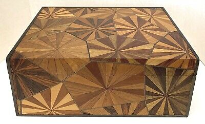 French Mid 20 Century Marquetry Carved Wooden Box By Em. Terquem Paris