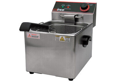 Winco Countertop Commerical  Deep Fryer, Single Well, 16 lbs Oil Capacity EFS-16