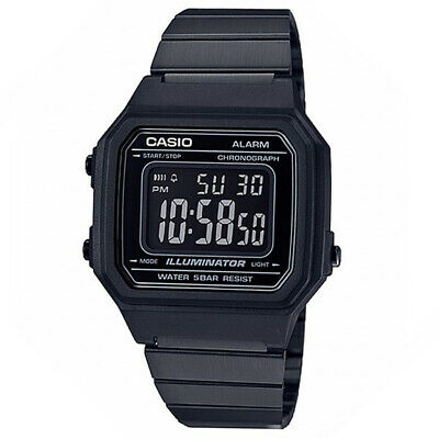 Casio Men's Classic Vintage Stainless Steel Watch B650WB-1BVT