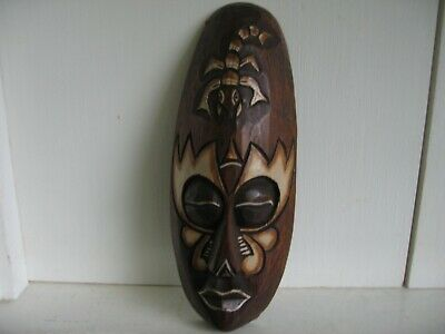 Small Carved Wooden Decorative Mask African/Tribal