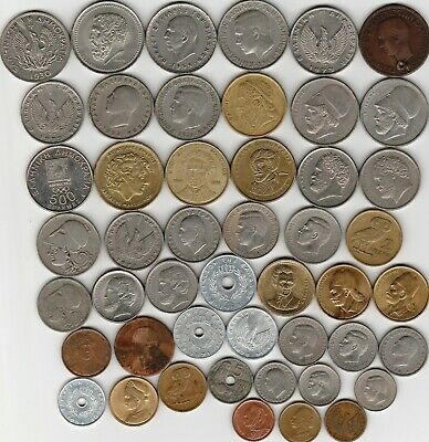 48 different world coins from GREECE some scarce