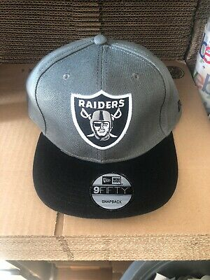 Oakland Raiders Snapback Hat Cap New Grey Nfl Football