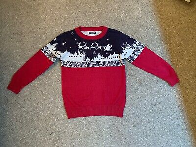 Next Boys Red Christmas Junper Age 4-5 - Great Condition