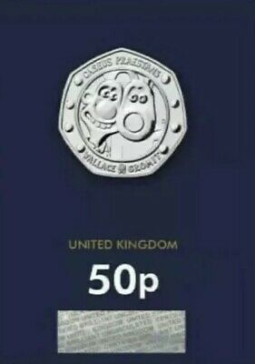 Wallace And Gromit 2019 UK 50p Fifty Pence Coin BU NEW RELEASE