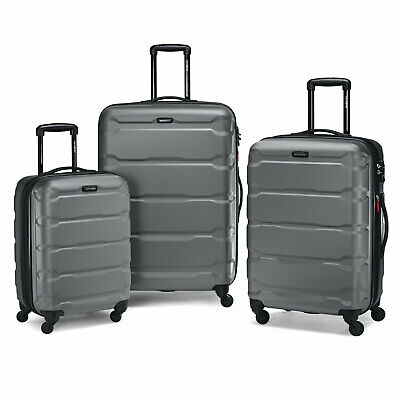 "Samsonite Omni 3 Piece Hardside Luggage Nested Spinner Set (20""/24""/28"") Charcoa"