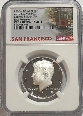 2019 S Proof Silver Kennedy Limited Edition Set Ngc Pf69 First Releases Trolley