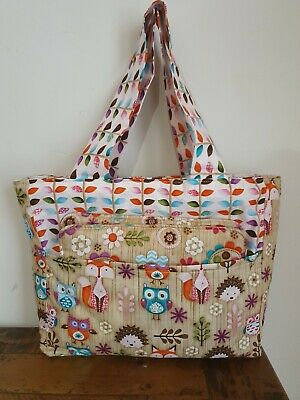 Dolls Nappy Bag  and Change mat owl handmade