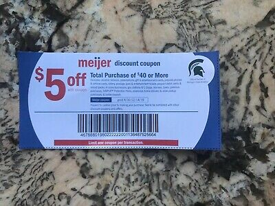 Meijer Coupon $5 Off $40 Lot Of 10
