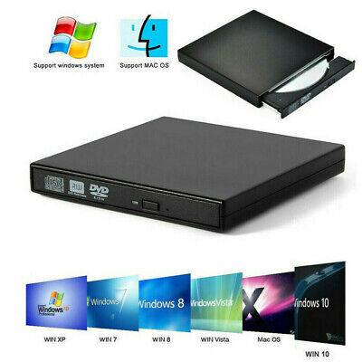 External USB 3.0 CD Drive Portable CD DVD+/RW Drive Slim Rewriter Burner Copier