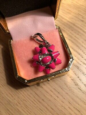 Juicy Couture Limited Edition Hot Pink Bow Charm New w Box And Tags Great Gift