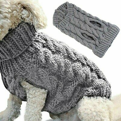 Small Dog Knitted Jumper Knitwear Pet Clothes Puppy Cat Sweater Coats S~XL Xmas