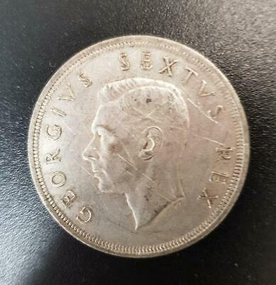 Silver coin 5 Shillings South Africa George VI 1952