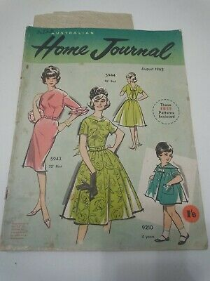 Australian Home Journal August 1962 includes patterns