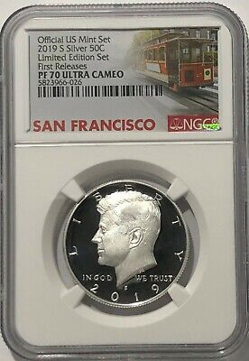 2019 S Proof Silver Kennedy Limited Edition Set Ngc Pf70 First Releases Trolley