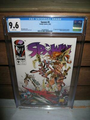 SPAWN 9 CGC 9.6 NM+ First Appearance ANGELA Neil Gaiman Todd McFarlane 1st Print