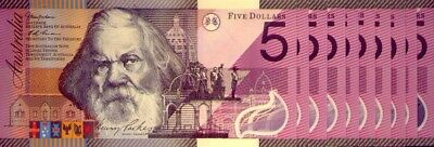 10 x UNC  $5 NOTES: HENRY PARKES  - GREAT  INVESTMENT   LOW  RESERVE !!!!