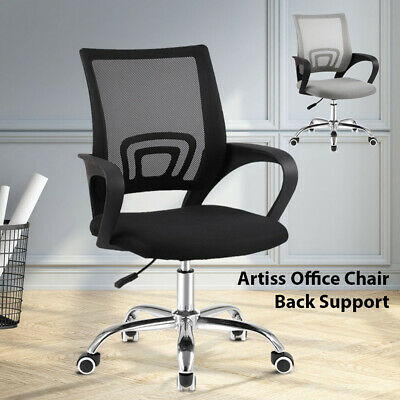 Office Chair Gaming Lumbar Support Computer Mesh Chairs Executive Mid Back Grey