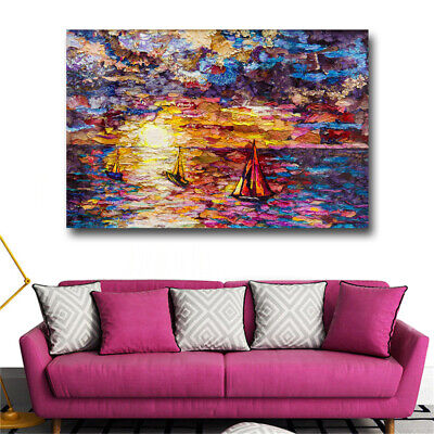 Abstract Sailing Canvas Painting Wall Art Animal Oil Paintings Huge Size Wall