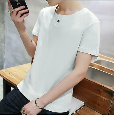 Slim Fit  Casual Mens Fashion Short Sleeve T-shirt Shirts Crew Neck Tops Summer