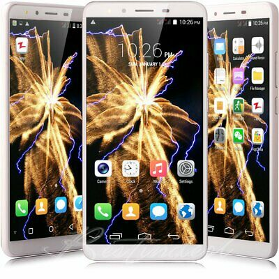 """Luxury Android 8.0 Mobile Phone 5.5"""" Unlocked 3G WIFI Smartphone Dual SIM 4Core"""