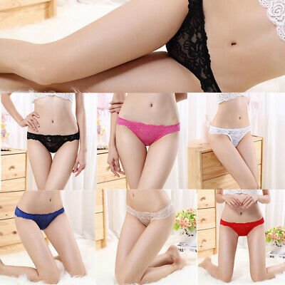 Women Sexy Lingerie Lace Thong Panties G String Thongs Underwear Knickers Briefs