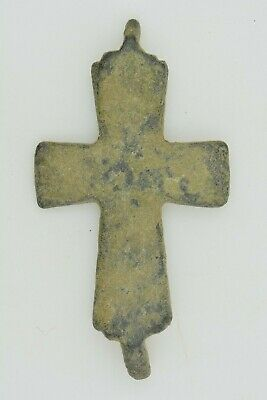 Byzantine bronze reliquary cross encolpion 6th century AD.