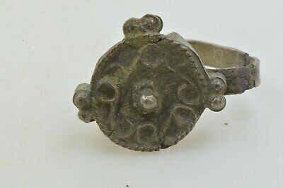 Antique Roman Byzantine Medieval silver ring 100-1200 AD FOR RESTORATION  sz 8