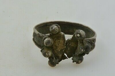 Antique Roman Byzantine Medieval silver ring 100-1200 AD FOR RESTORATION  7 1/2