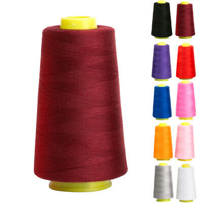 3000y Polyester Cotton Threads Reel Industrial Overlocking Cones Sewing Tool