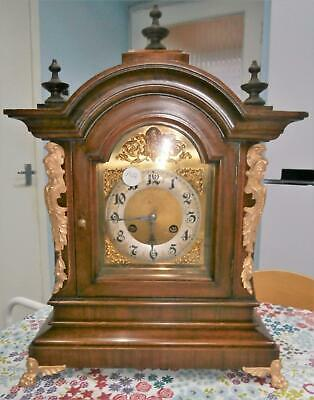 Walnut Junghans Ting Tang Bracket Clock Working Order