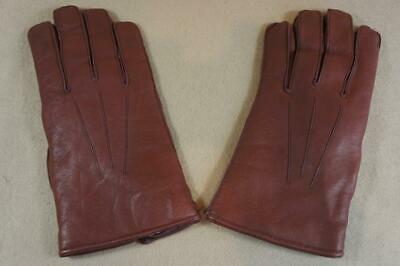 Vintage ex shop stock Morley men's brown soft leather gloves size 9½  (N)