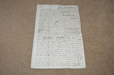 1742 indenture Tideswell Chapel En Le Frith land at MALCOFF