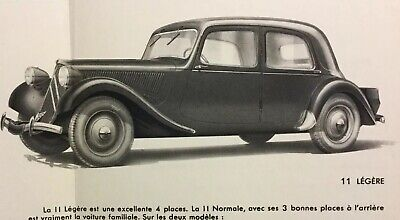 Superbe Catalogue 1951 CITROËN TRACTION Legère & Normale