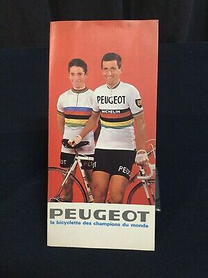 Superbe Catalogue 1966 PEUGEOT Cyclisme Course Bici Bicycle