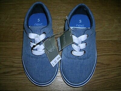 BNWT NEXT Boys Blue Canvas Shoes Trainers UK 5 Eur 21 NEW