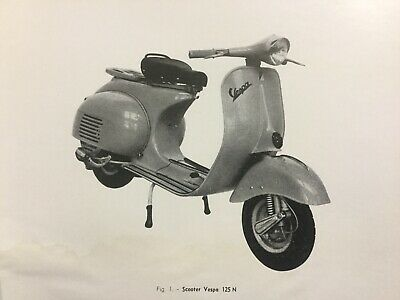 Rare Manuel Instructions STATION SERVICE Scooter VESPA 1960