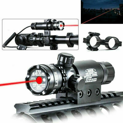 Red Dot Laser Sight Outside Adjust Rifle Gun Scope 2 Switch Rail Mounts