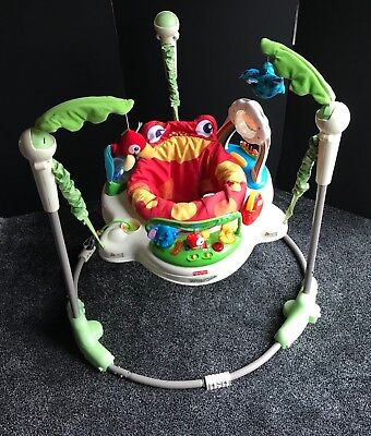Fisher Price Musical/Lights Rainforest Jumperoo,Baby Bouncer Play Gym Toy,