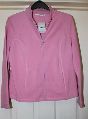 TU Pink Jacket Super Soft Zip Up Micro Fleece Size 14 New With Tags